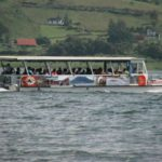 Jeep boat jeep lake crossing arenal monteverde