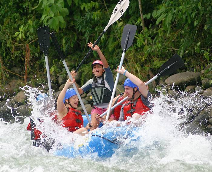 La Fortuna White Water Rafting Costa Rica Arenal Volcano