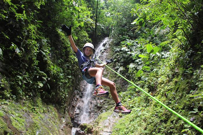 La Fortuna Waterfall Rappelling Tour & River Rafting Arenal Costa Rica