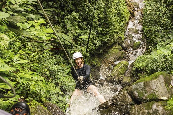 canyoneering and rafting la fortuna arenal volcano 4