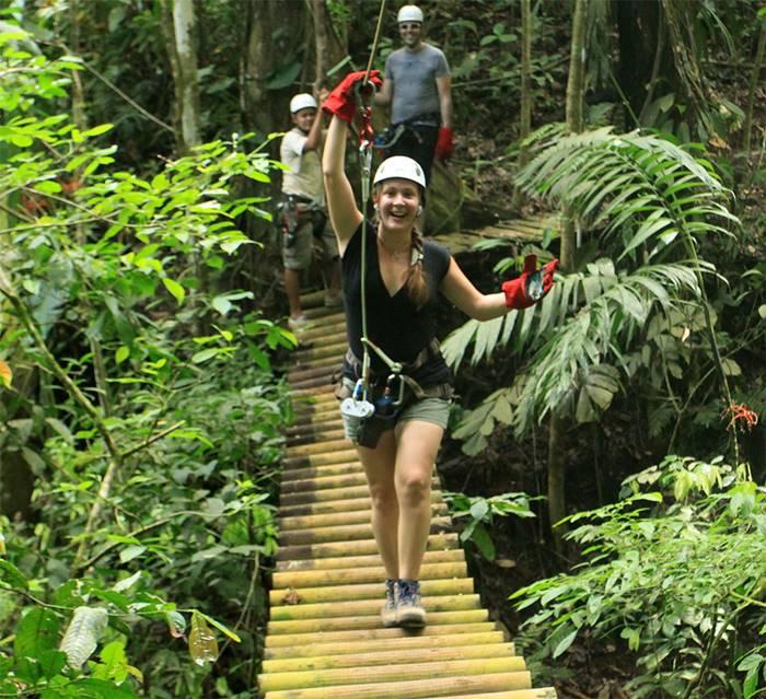 Jungle adventure tour puerto viejo costa rica